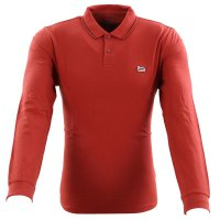 LEE JEANS Herren Langarm Polo Shirt LS PIQUE POLO Red...