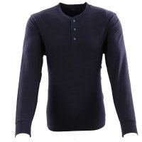 LEE JEANS Herren Langarm Shirt HENLEY Midnight Navy L61JS...