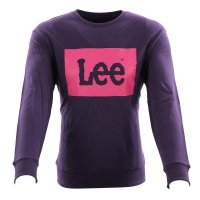 LEE JEANS Herren Sweat Pullover LOGO SWS Purple Rain...