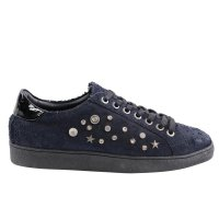 MARUTI Damen Sneaker Low Spike Dark Navy Snake-Design...