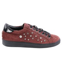 MARUTI Damen Sneaker Low Spike Vino Red Snake-Design...