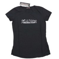 MATCHLESS Damen Kurzarm T-Shirt BRAND Black 124006