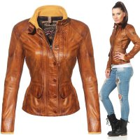 MATCHLESS Damen Leder Jacke KENSINGTON Antique Cuero Brown 123003