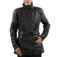 MATCHLESS Damen Leder Jacke KENSINGTON COAT Antique Black 123304