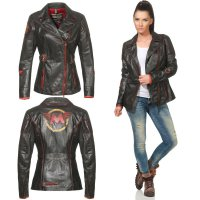MATCHLESS Damen Leder Jacke MONTROSE Antique Black 123028