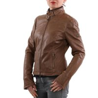 MATCHLESS Damen Leder Jacke OSBORNE BLOUSON Mountain Brown 123116 2. Wahl