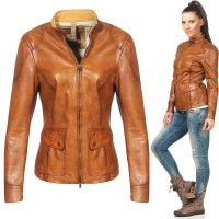 MATCHLESS Damen Leder Jacke SILVERSTONE Antique Cuero Brown 123020