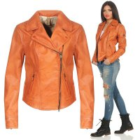 MATCHLESS Damen Leder Jacke SOHO BLOUSON VENT Burnt Orange 123112