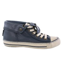 MATCHLESS Damen Leder Sneaker Schuhe WATTS HIGH VENT Navy 142019