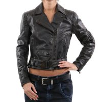 MATCHLESS Damen Übergangs Leder Jacke WILD ONE BLOUSON Antique Black 90001