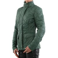 MATCHLESS Damen Übergangs Nylon Stepp Jacke CAMBRIDGE British Green 120000