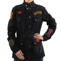 MATCHLESS Damen Übergangs Wax Jacke MISS DIANA Black...