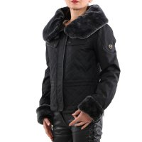 MATCHLESS Damen Winter Wax Jacke WINDSOR BLOUSON Antique Black 120109