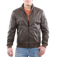 MATCHLESS Herren Winter Leder Jacke G9 BOMBER Mud Brown...