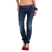MET Damen Jeans Denim K-Fit Blue 1259