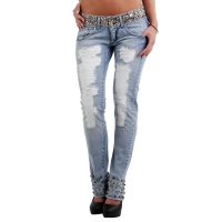 MET Damen Jeans Denim fix stretch Alibys Blue F011168 Größe 26