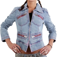 MET Damen Jeansjacke Denim Cheeky Blue 151686-1