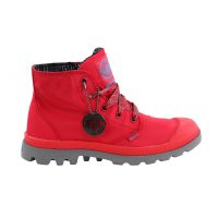 PALLADIUM Damen Schnür Stiefel Boots Pampa Puddle Lite WP True Red/Metal