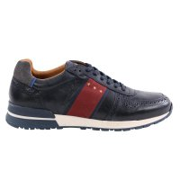 PANTOFOLA D ORO Herren Leder Sneaker SANGANO UOMO LOW Dress Blues Größe 41