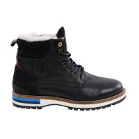 PANTOFOLA D ORO Herren Winter Leder Boots Stiefelette PONTINA UOMO High Dress Blues Größe 42