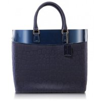 PISIDIA Damen Silikon Handtasche Shopper Twilight Blue P07