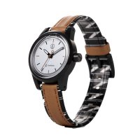 Q&Q SMILE SOLAR MINI Armbanduhr Light Brown RP01J021Y