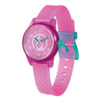 Q&Q SMILE SOLAR MINI Armbanduhr Pink Transparent...