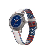 Q&Q SMILE SOLAR MINI Armbanduhr White Blue RP01J020Y