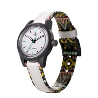 Q&Q SMILE SOLAR MINI Armbanduhr White Summer RP01J023Y