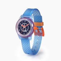 Q&Q SMILE SOLAR MINI Unisex Armbanduhr Blue Transparent RP01J010Y