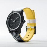 Q&Q SMILE SOLAR Unisex Armbanduhr Black White Yellow...
