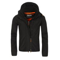 SUPERDRY Damen Windbreaker Funktions Jacke WINDCHEATER ZIP 3 Black Orange