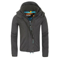 SUPERDRY Damen Windbreaker Funktions Jacke WINDCHEATER ZIP 3 Dark Grey Blue