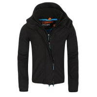 SUPERDRY Herren Windbreaker Funktions Jacke WINDCHEATER ZIP 3 Black Blue