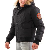 SUPERDRY Herren Winter Daunen Jacke EVEREST BOMBER Black
