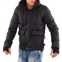 SUPERDRY Herren Winter Daunen Jacke Black MT-2515 2. Wahl