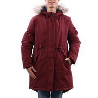 TIMBERLAND Damen MT KELSEY TEDDY FLEECE Parka Chocolate Truffle Red A2C23 Größe M
