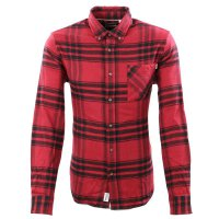 TIMBERLAND Herren Hemd BACK RIVER HEAVY FLANNEL Shirt Red A2D7P Größe M