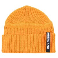 TIMBERLAND Herren UPDATED PATCH RIB BEANIE Mütze Dark Cheddar Orange A1F39 Größe One Size