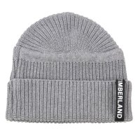 TIMBERLAND Herren UPDATED PATCH RIB BEANIE Mütze Light Grey A1F39 Größe One Size