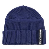 TIMBERLAND Herren UPDATED PATCH RIB BEANIE Mütze Peacoat Blue A1F39 Größe One Size