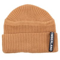 TIMBERLAND Herren UPDATED PATCH RIB BEANIE Mütze Wheat Beige A1F39 Größe One Size