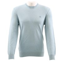 TIMBERLAND Herren WASHED CREW Sweater Pullover LIGHT Blue...
