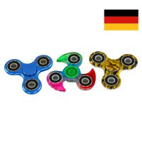 WOW Fidget Spinner CHROM RAINBOW CAMOUFLAGE Anti Stress Kreisel DEUTSCHER Händler 3er Set