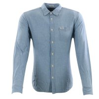 WRANGLER Herren Langarm Hemd LS 1 POCKET SHIRT Light...