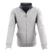 WRANGLER Herren Sweat Jacke FUNNEL NECK Grey Melange...