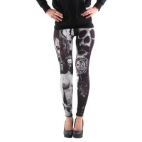 YAKUZA Damen Leggings Hose LOST CITY Black 442 2. Wahl