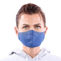 YOU`RE PROTECTED Community Thai Maske 2-Lagig unisex Blue