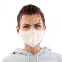 YOU`RE PROTECTED Community Nano Maske 3-Lagig unisex Beige 2 Stück
