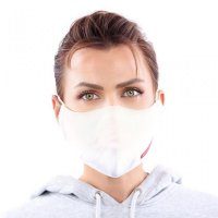 YOU`RE PROTECTED Community Nano Maske 3-Lagig unisex White 2 Stück